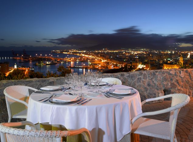 Evening Dining at Parador de Málaga Gibralfaro